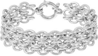 Bronze Triple Rolo Link Bracelet by Bronzo Italia