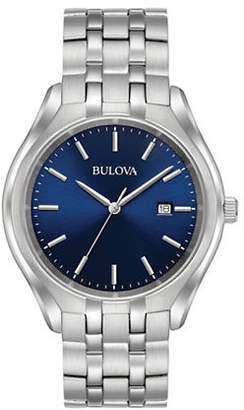 Bulova Stainless Steel Blue Dial 96B268 watch