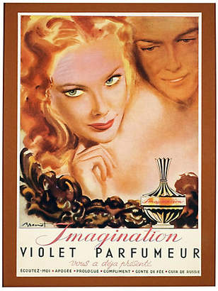 One Kings Lane Vintage Framed Parisian Parfumeur Ad Art