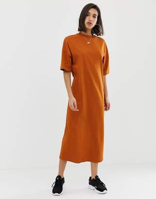 Asos Design DESIGN cotton maxi t-shirt dress with split