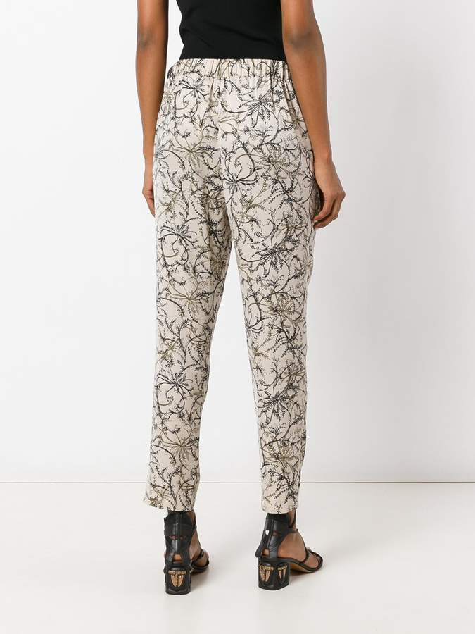 Steffen Schraut floral print cropped trousers