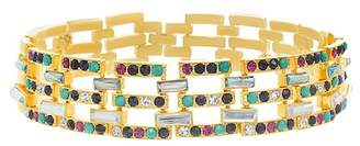 Steve Madden Multi-Colored Crystal Link Choker Necklace