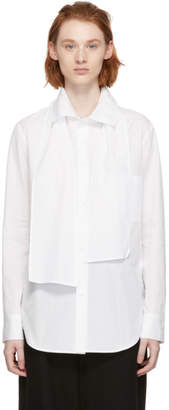 Y's Ys White U-Bow Collar Shirt