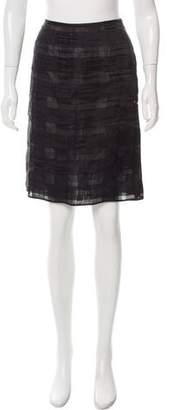 Rochas Silk Semi-Sheer Skirt