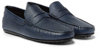 City Gommino Textured-Leather Loafers