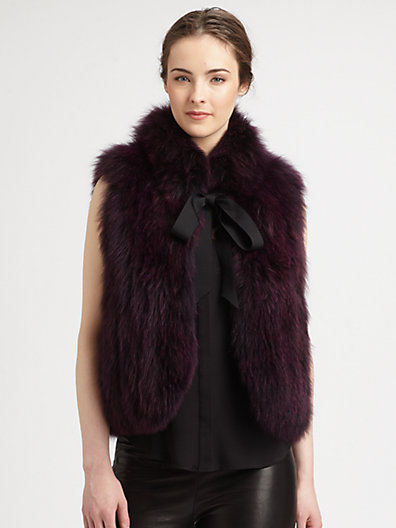 Milly Madison Dyed Fox Fur Vest