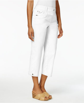 Style & Co Grommet-Detail Capri Pants, Only at Macy's $49.50 thestylecure.com