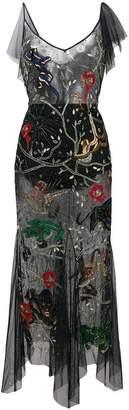 Amen embroidered sheer dress