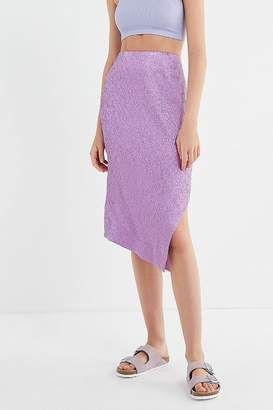Urban Outfitters Crinkle Asymmetrical Midi Skirt