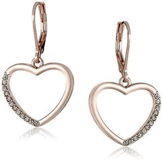 T Tahari Essentials Heart Charm Drop Earrings