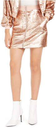 Bar III Becca Tilley x Sequin Utility Skirt