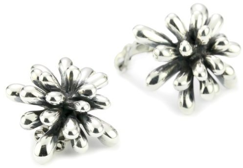 "Zina Sterling Silver ""Fireworks"" Earrings In Oxidized Sterling Silver"