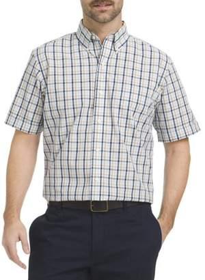 Arrow Men's Big And Tall Short Sleeve Hamilton Poplin Shirt