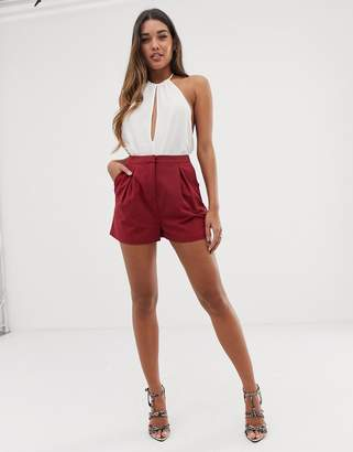 Asos Design DESIGN pleat front shorts