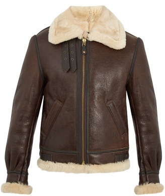 Military B-3 shearling-lined leather jacket