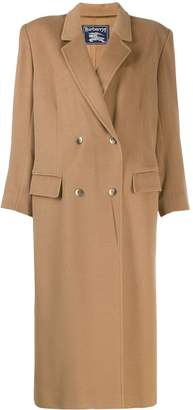 Burberry Pre-Owned 1980's square-shoulder overcoat