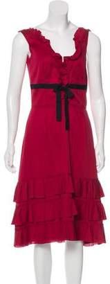 Prada Ruffle Midi Dress
