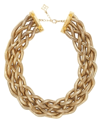 BCBGMAXAZRIA Braided Snake-Chain Necklace