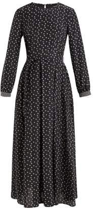 Max Mara Tasso Dress - Womens - Black Print