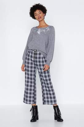 Nasty Gal Jewel Eyed Judy Relaxed Sweater