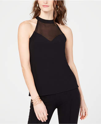 INC International Concepts I.N.C. Illusion Halter-Neck Top, Created for Macy's