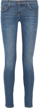 Current/Elliott - The Ankle Mid-rise Skinny Jeans - Mid denim $230 thestylecure.com