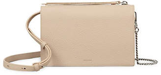 AllSaints Textured Leather Crossbody Bag