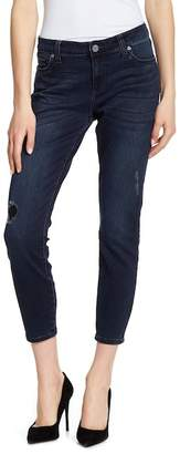 KUT from the Kloth Mid Rise Ankle Skinny Jeans
