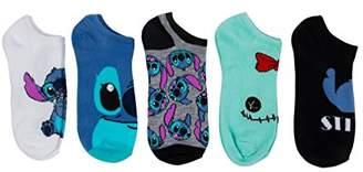Disney Women's Lilo and Stitch 5 Pack No Show Socks