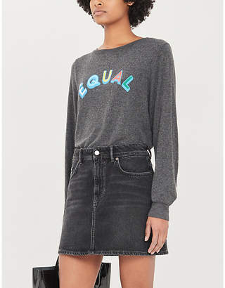 Wildfox Couture Equal boat-neck knitted jumper