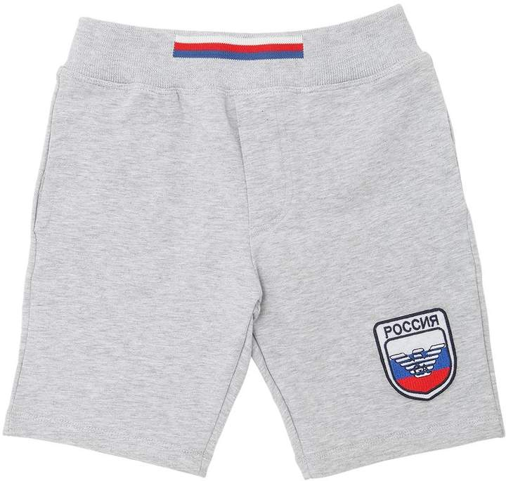 Russia Soccer Team Cotton Sweat Shorts
