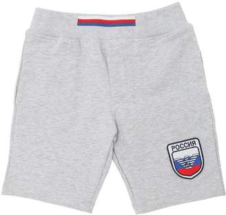 Armani Junior Russia Soccer Team Cotton Sweat Shorts