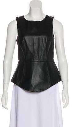 Tibi Leather Sleeveless Top