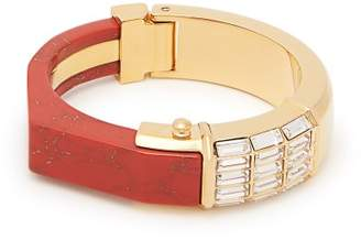 Cercle Amédée Cercle Amedee - She Couldn't Take It Crystal Embellished Bangle - Womens - Red