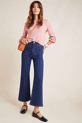 3x1 Nicolette Ultra High-Rise Cropped Flare Jeans