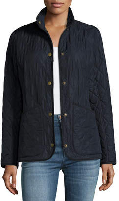 Barbour Combe Polar-Quilt Utility Jacket, Navy $229 thestylecure.com