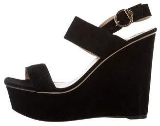 Tory Burch Suede Platform Wedges