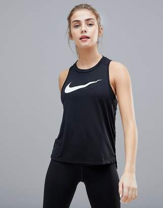 Nike Running Dry Miler Tank In Black