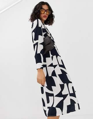 Vero Moda bold abstract wrap midi dress