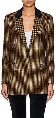 BLAZÉ MILANO Women's Timeless Plaid Wool One-Button Blazer - Yellow