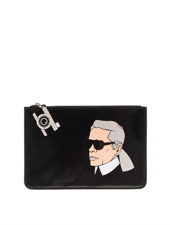 Yazbukey Karl leather clutch