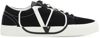 Valentino 20MM TRICKS CANVAS & SUEDE SNEAKERS