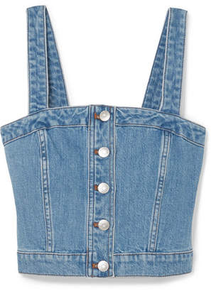 Madewell Denim Bustier Top - Blue