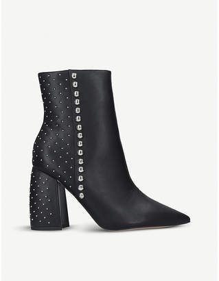 Kurt Geiger Tyra studded faux-leather boots