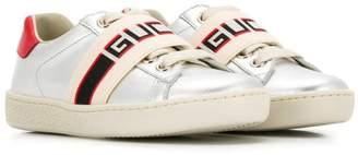 Gucci Kids stripe Ace sneakers