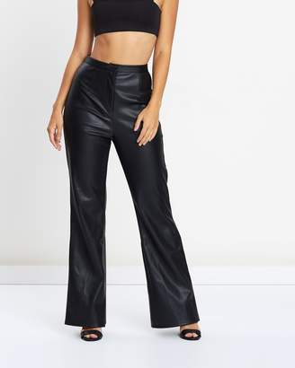 Missguided Faux Leather Wide Legged Trousers