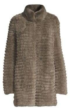 Glamour Puss Glamourpuss Rex Rabbit Fur Knit Coat