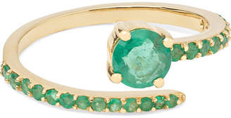 Ileana Makri - Grass Seed 18-karat Gold Emerald Ring
