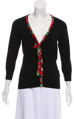 Dolce & Gabbana Bow-Accented V-Neck Cardigan