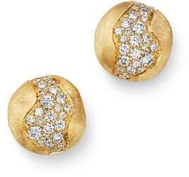 Marco Bicego 18K Yellow Gold Africa Constellation Pavé Diamond Stud Earrings
